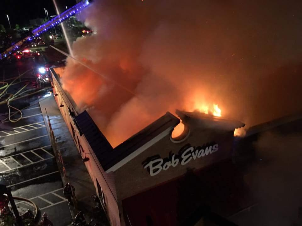 Early Morning Fire Destroys Bob Evans