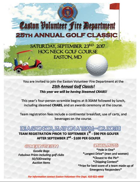 25th Annual EVFD Golf Classic – SIGN UP NOW